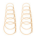 cheap Earrings-Women's Hoop Earrings Classic Hollow Out Personalized Simple Sweet Cute Gold Plated Earrings Jewelry Gold / Silver For Party Gift Daily Club Bar 6 Pairs