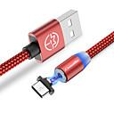 رخيصةأون سماعات الرياضة-نوع C كابل 1.0M (3FT) جديلي / مغناطيس / LED نايلون محول كابل أوسب من أجل Macbook / Samsung / Huawei