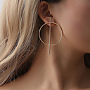 cheap Earrings-Women's Earrings Earrings Jewelry Gold / Black / Silver For Work Bar Festival 1 Pair