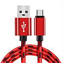 رخيصةأون حافظات / جرابات هواتف جالكسي J-USB مصغر كابل جديلي نايلون محول كابل أوسب من أجل Samsung / Huawei / LG