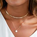 povoljno Modne ogrlice-Žene Ogrlice s privjeskom slojeviti Ogrlice Lenonice Lopta slatko Moda Glina Pozlaćeni Zlato Pink 40 cm Ogrlice Jewelry 1pc Za Dar Dnevno