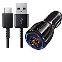 ieftine Încărcătoare auto-încărcător de mașină 2 porturi USB pentru 5 v cu cablu de tip 1.2m