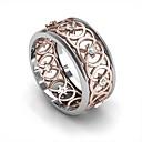 ieftine Inele-Bărbați Pentru femei Band Ring Inel Zirconiu Cubic 1 buc Roz auriu Articole de ceramică Placat Cu Aur Roz Geometric Shape Stilat Lux La modă Petrecere Cadou Bijuterii Floare Cool