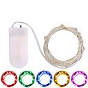 povoljno LED svjetla u traci-3M Žice sa svjetlima 30 LED diode SMD 0603 Toplo bijelo / Bijela / Više boja Vodootporno / Party / Ukrasno Baterije su pogonjene 1pc