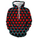 povoljno Muške majice s kapuljačom i trenirke-Muškarci Veći konfekcijski brojevi Osnovni / Ležerno / za svaki dan Hoodie Geometrijski oblici / Color block / 3D S kapuljačom