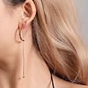 ieftine Ustensile Ceai-Pentru femei Cercei Picătură Clasic Stilat cercei Bijuterii Auriu / Argintiu Pentru Zilnic 1 Pair