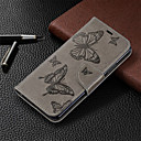 رخيصةأون Huawei أغطية / كفرات-غطاء من أجل Huawei هواوي الشرف 8A / Huawei Honor 7A / Huawei Honor 7C(Enjoy 8) محفظة / حامل البطاقات / مع حامل غطاء كامل للجسم لون سادة / فراشة قاسي جلد PU