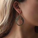 ราคาถูก ตุ้มหู-สำหรับผู้หญิง ต่างหู ต่างหู เครื่องประดับ สีทอง / สีดำ / สีเงิน สำหรับ ทุกวัน 1 คู่