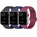 billige Apple Watch-remmer-3pcs kompatibel epleklokke 38mm 40mm 42mm 44mm kvinner menn myk silikon erstatning bandrem til iwatch eplekjerne serie 4 serie 3 serie 2 serie 1