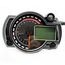 رخيصةأون الدرجات النارية وأجزاء السيارات-دراجة نارية عداد السرعة الرقمية lcd مقياس السرعة مقياس سرعة الدوران عداد المسافات صك