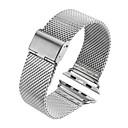 voordelige Apple Watch-bandjes-horlogebandje voor apple watch serie 4/3/2/1 appel moderne gesp roestvrij stalen polsband