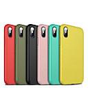 رخيصةأون أغطية أيفون-غطاء من أجل Apple iPhone XS / iPhone XR / iPhone XS Max ضد الصدمات غطاء خلفي لون سادة ناعم سيليكون
