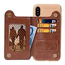 رخيصةأون أغطية أيفون-كفر آيفون xr / iphone xs max magnetic / مع حامل / غطاء خلفي مقاوم للصدمات صلب بلون جلد طبيعي صلب / جلد PU لآيفون 6s / iphone 6s plus / iphone 7 / iphone 7 plus / iphone 8/8 plus / x / xs