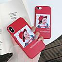 ieftine Imbracaminte & Accesorii Căței-Maska Pentru Apple iPhone X / iPhone 8 Plus / iPhone 8 Mătuit / Model Capac Spate Cuvânt / expresie Greu PC