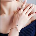 ieftine Brățări-Pentru femei Ring Bracelets Geometric Botanic La modă Aliaj Bijuterii brățară Auriu / Argintiu Pentru Carnaval Concediu Club