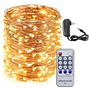 povoljno LED svjetla u traci-kwb 50m vodio bakrene žice žarulje 500leds zvjezdano svjetlo i 12v 3a strujni adapter i daljinski upravljač Božićni odmor