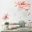 billige Vægdekorationer-store lyserøde blomster væg klistermærker - ord&ampamp citater væg klistermærker tegn studere værelse / kontor / spisestue / køkken