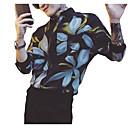 رخيصةأون قمصان رجالي-رجالي أناقة الشارع / أنيق طباعة قميص, ورد / هندسي رقبة طوقية مرتفعة / كم طويل