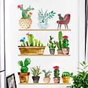 رخيصةأون ملصقات ديكور-الأزياء الإبداعية بوعاء النباتات ملصقات الحائط - الكلمات&أمبير ؛ ampamp يقتبس ملصقات الحائط الشخصيات دراسة غرفة / مكتب / غرفة الطعام / المطبخ