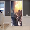 رخيصةأون ملصقات ديكور-مجردة المشهد ملصقات الحائط 3d ملصقات الحائط السبورة ملصقات الحائط ملصقات الحائط الزخرفية ملصقات الثلاجة الفينيل الديكور المنزل
