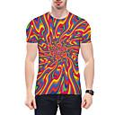 رخيصةأون قمصان رجالي-رجالي طباعة قياس كبير تيشرت, 3D رقبة دائرية / كم قصير