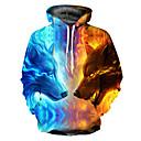povoljno Muške majice s kapuljačom i trenirke-Muškarci Osnovni Širok kroj hoodie jakna 3D S kapuljačom