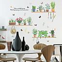 povoljno Ukrasne naljepnice-svježe zelene lončanice zidne naljepnice - riječi& amp; citati zid naljepnice znakova studija soba / ured / blagovaonica / kuhinja
