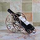 رخيصةأون الكؤوس والفتاحات-1PC حديد مطاوع رفوف النبيذ رفوف النبيذ كلاسيكي خمر إكسسوارات إلى برواري