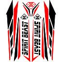رخيصةأون الديكورات-بارد عاكس 3d دراجة نارية ملصقا خزان الوقود ماء صائق العالمي لياماها الخ