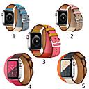 voordelige Apple Watch-bandjes-smartwatch band voor apple watch serie 4/3/2/1 klassieke gesp iwatch riem dubbele cirkel