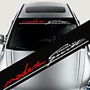 رخيصةأون جسم السيارة الديكور والحماية-الملونة ملصقات الديكور سيارة الشارات العاكسة التصميم الأمامي ملصق صائق الزجاج الأمامي