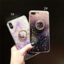 رخيصةأون أغطية أيفون-غطاء من أجل Apple iPhone XS / iPhone XR / iPhone XS Max حامل الخاتم / نموذج / بريق لماع غطاء خلفي حجر كريم ناعم TPU