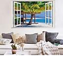 رخيصةأون الستائر-شاطئ جوز الهند شجرة المشهد ملصقات الحائط - الكلمات&أمبير ؛ ampamp يقتبس ملصقات الحائط الشخصيات دراسة غرفة / مكتب / غرفة الطعام / المطبخ