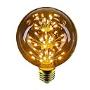 povoljno LED žarulje s nitima-1pc 2.5 W 100 lm E26 / E27 LED okrugle žarulje 49 LED zrnca Dip LED Ukrasno Žuto 220-240 V / 1 kom. / RoHs