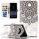 voordelige Galaxy S7 Hoesjes / covers-case voor Samsung Galaxy s9 plus / s9 portemonnee / kaarthouder full body cases schedel / tegel zachte tpu / pu leer voor s6 / s6 rand / s7