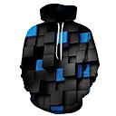 povoljno Muške majice s kapuljačom i trenirke-Muškarci Osnovni Hoodie 3D