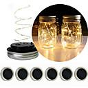 povoljno LED svjetla u traci-vodio lantern solarni zid može pokriti niz svjetlo božićni poklon cvijet ukras svjetlo 2m niz svjetla 20 leds rgb / toplo bijelo sladak / božićno vjenčanje dekoracija / kreativni solarni 6pcs