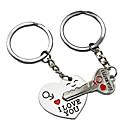 povoljno Privjesci za automobile i ornamenti-svjetski ključ ponosa za moje srce slatki par keychain ljubav privjesak za ključeve