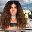 povoljno Perike i ekstenzije-Perike s ljudskom kosom Kinky Ravno Srednji dio Perika Dug Tamno smeđa / tamna mrkva Sintentička kosa 26 inch Žene Žene Tamnosmeđa