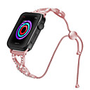رخيصةأون شواحن USB-تصميم جديد نساء بنات الماس الفولاذ المقاوم للصدأ سوار حزام لتفاح حزام 44 ملليمتر / 40 ملليمتر / 38 ملليمتر / 42 ملليمتر المعادن وصلة سلسلة 4/3/2/1