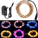 povoljno LED svjetla u traci-20m Žice sa svjetlima 200 LED diode 1 x 12V 2A adapter Toplo bijelo / RGB / Bijela Kreativan / Cuttable / Party 12 V 1set
