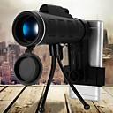 ieftine Baloane-40x60 bak4 telescop monocular hd mini monocular pentru camping de vânătoare în aer liber cu clip telefonic