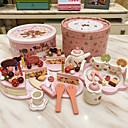 povoljno igre pretvaranja-4kom rođendansku tortu oblik drvena kuća igrati igre pretvaranja igračke