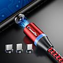 povoljno USB memorije-Caseme iphone / type-c / micro usb 2 u 1 magnetni punjač kabel telefon brzo punjenje led 1.0m (3ft) najlon opleten android za iphone / samsung / huawei / sony