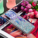 voordelige Galaxy A-serie hoesjes / covers-hoesje Voor Samsung Galaxy Galaxy A7(2018) / A3 (2017) / A5 (2017) Schokbestendig / Stromende vloeistof / Patroon Achterkant Veren / Glitterglans Zacht TPU