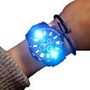 ieftine Ceasuri Bărbați-Bărbați Ceas Sport Quartz Piele Negru 30 m Luminos Ceas Casual Adorabil Analog Casual Sclipici - Alb Negru Doi ani Durată de Viaţă Baterie / Mare Dial