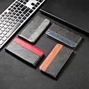 رخيصةأون أغطية أيفون-غطاء من أجل Apple iPhone XS / iPhone XR / iPhone XS Max حامل البطاقات / ضد الصدمات / مع حامل غطاء كامل للجسم نموذج هندسي قاسي جلد PU