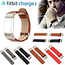 رخيصةأون أساور ساعات FitBit-حزام إلى Fitbit Charge 2 فيتبيت عصابة الرياضة جلد / جلد طبيعي شريط المعصم