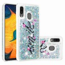 voordelige Galaxy J7 Hoesjes / covers-case for samsung galaxy samsung galaxy a70 (2019) / a7 (2018) patroon / transparant / vloeiende vloeistof achterkant glitter glitter zacht tpu voor galaxy a30 (2019) / galaxy a50 (2019) / samsung