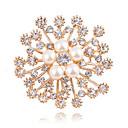 ieftine Urgență & Supraviețuire-Pentru femei Diamant sintetic Broșe Floare femei Clasic Modă extravagant Imitație de Perle Broșă Bijuterii Auriu Pentru Nuntă Zilnic Mascaradă Petrecere Logodnă Bal Dată